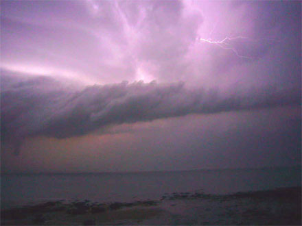 Gewitter über dem Ärmelkanal